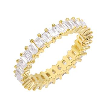 Thin Baguette Eternity Band