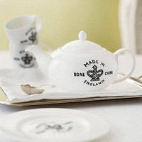 Britannia Backstamp Bone China Teapot | Folly Home | Design-led Gifts, Home wares, Vintage Finds