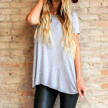 Essential Tee Tunic - Grey