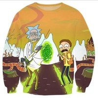 2017 New fashion Rick and Morty Crewneck sweatshirt
