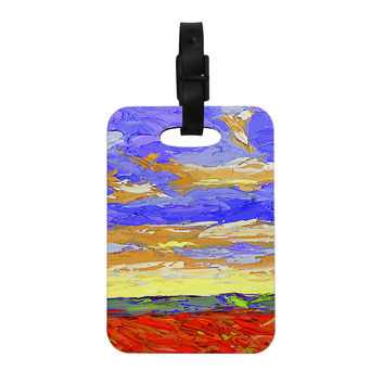 "Jeff Ferst ""After the Storm"" Blue Yellow Decorative Luggage Tag"
