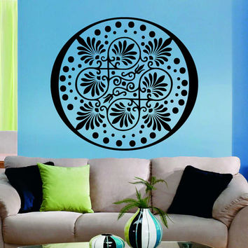 Flower Wall Decals Mandala Om Yoga Indian Pattern Oum Sign Living Room Interior Vinyl Decal Sticker Art Mural Bedroom Kids Room Decor MR362