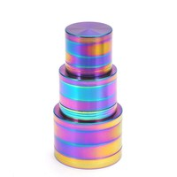Herb Weed Grinder 4Parts Zinc Alloy Tobacco Cigarettes Chicha Shihsa Mill Fantastic for Water Pipe Hookah
