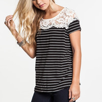 All About That Lace Striped Tee