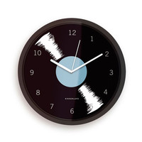 SALE! Black Vinyl Kitchen Clock