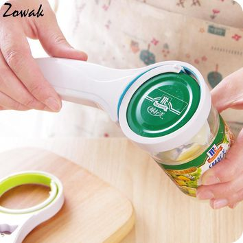 Jar Opener Kitchen Tool Caps Bottles Can Lid Bottle Top Twist Off for Seniors Home Gadget Easy Opening Grip Handle Random Color