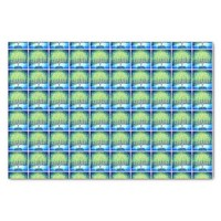 Trendy, Fun, Blue Hanukkah Menorahs Pattern Photo Tissue Paper