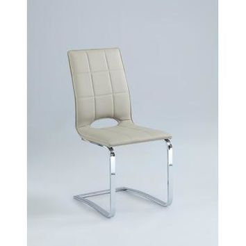 Chintaly Tiffany Cantilever Open Back Side Chair In Beige