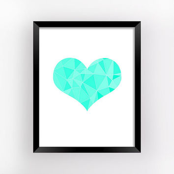 Valentine Decor, Love Print, Wall Art, Heart Art, Bedroom Wall Decor, Romantic Gifts For Him, Wall Poster, Love Gift | MAGFEM ART #24