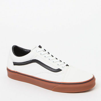 Vans Old Skool White Black   Gum Shoes at from PacSun 7a42d7963