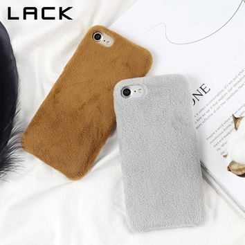 LACK Lovely Candy Color Soft Phone Case For iphone 8 Case Fashion Winter Warm Fuzzy Back Cover For iphone8 8 Plus Cases Fundas