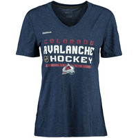 Women's Colorado Avalanche Reebok Navy 2015 Center Ice Authentic Freeze T-Shirt