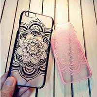Lace Transparent Iphone 6 S Plus Case Cover