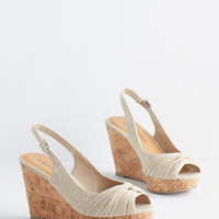 ModCloth Vintage Inspired All In Good Fundamentals Wedge in Biscotti