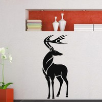Wall Decal Vinyl Sticker Wild Animal Deer Reindeer Decor Sb426