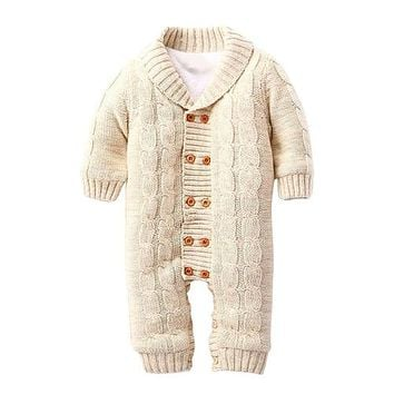 Wool Knitted Baby Suit