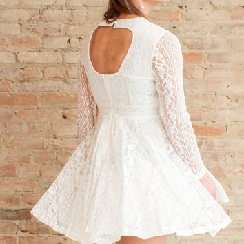 Aurelie Lace Dress - White