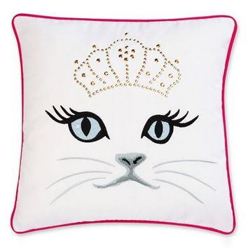 Betsey Johnson Bedding Polished Punk Cat Pillow | Nordstrom