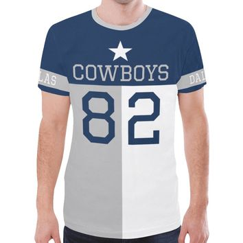 Dallas Football #82 State of Texas Flag Men's Mesh Jersey T-Shirt