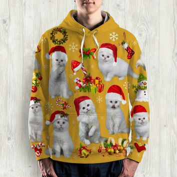CAT ALL OVER PRINT HOODIE - HD019PA