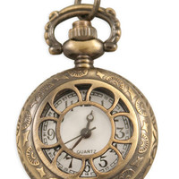 Ladies Watch Pendant - Antique Brass Sprockets