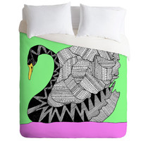 Aztec Swan Duvet Cover - Twin, King Queen Size Duvet - Swan Blanket - Swan Duvet - Kids Room Blanket - Swan Bedding