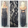 Black Franchesca Lace Maxi Dress