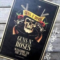 vintage poster retro Guns N 'Roses Guns and Roses posters old skull painting 42*30cm