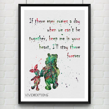 Quote from Winnie the Pooh, Disney Watercolor Art Print, Baby Nursery Wall Art, Kids Decor, Not Framed, Gift, Buy 2 Get 1 Free! [No. 07]