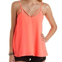 Neon Caged Swing Tank Top by Charlotte Russe
