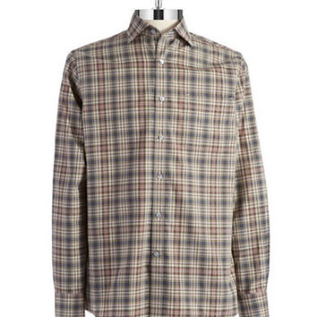 Black Brown 1826 Plaid Sportshirt