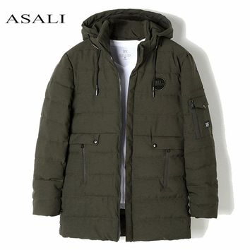 Winter Parkas Casual Men's Winter Jackets Thick Padded Hooded Coat for Men Male Cargo Clothing