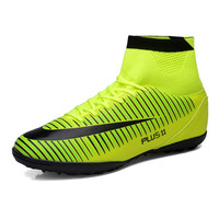 Mens Indoor Shoes High Ankle Soccer Cleats With Socks Hombres