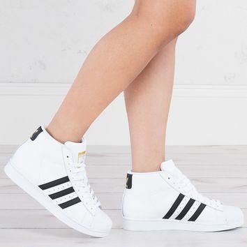 Adidas High Top Platform Sneakers in White - AKIRA
