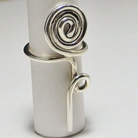 Silver Rose Ring Big and Bold | LaraJordanJewelry - Jewelry on ArtFire