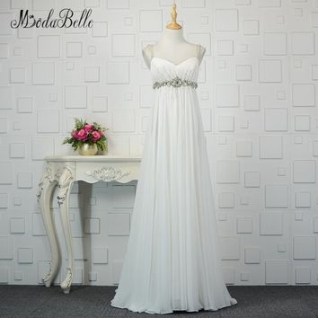 modabelle Summer Beach Beaded Evening Dress 2018 Sleeveless Sexy Chiffon Pregnancy Evening Party Photography Dress Party Gown