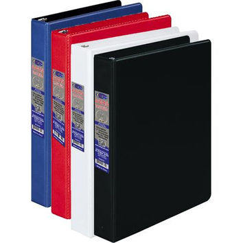 Half Inch 3 Ring Vinyl Binder - Assorted Colors