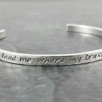 Personalized 14k White Gold Cuff Bracelet