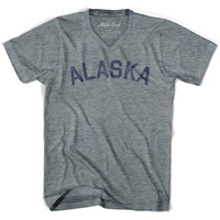 Alaska City Vintage V-neck T-shirt