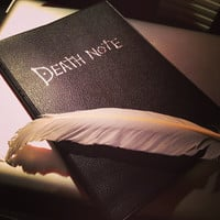 Death Note Notebook set of 2 pieces with feather pen Cosplay