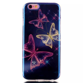 Butterfly Blue Light Case Cover for iPhone & Samsung Galaxy S6  Unique iPhone 6s Plus