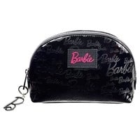 Love Barbie - Barbie Embossed Logo Black Makeup Cosmetic Case