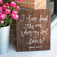 Rustic Wooden Wedding Sign - Keepsake Sign - Bible Verse Sign (WD-4)