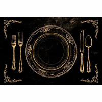 Flatware Black Paper Placemats | Waiting On Martha