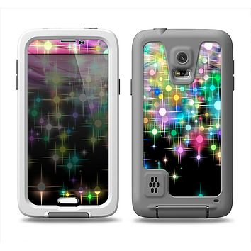 The Multicolored Glistening Lights Samsung Galaxy S5 LifeProof Fre Case Skin Set