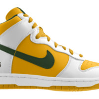 Nike Dunk High NFL Green Bay Packers iD Custom Kids' Shoes - White