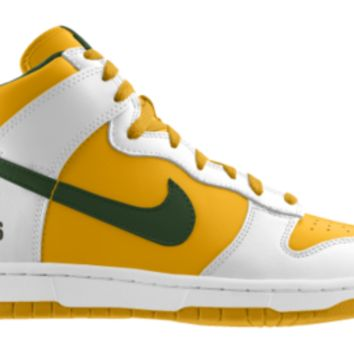 check out 3ba6e a4b4c Nike Dunk High NFL Green Bay Packers iD Custom Kids Shoes - White ...