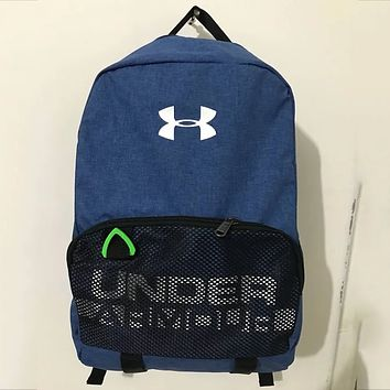 Under Armour Men's and Women's Waterproof Sports Training Backpack F0651-1 Blue