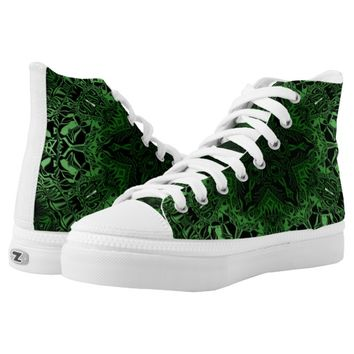 Green Kaleidoscope Printed Shoes