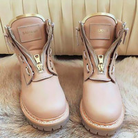 Balmain Leather Ranger Boots - 2 colors